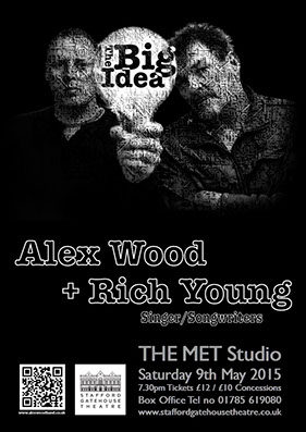Alex Wood Band poster design by Wright Designer